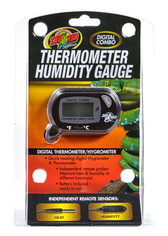 Zoo Med Digital Combo Thermometer Humidity Gauge / Hygrometer