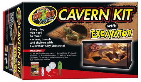 Cavern Kit with Excavator Clay Burrowing Substrate