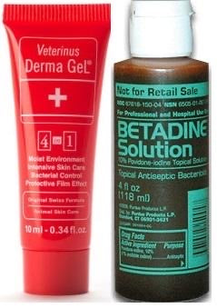 Betadine Solution 100ml + Veterinus Derma GeL 10ml