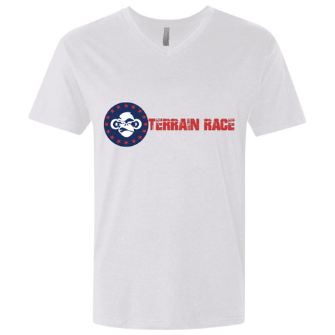 Terrain Race Soldier - Next Level Men's Premium Fitted SS V-Neck
