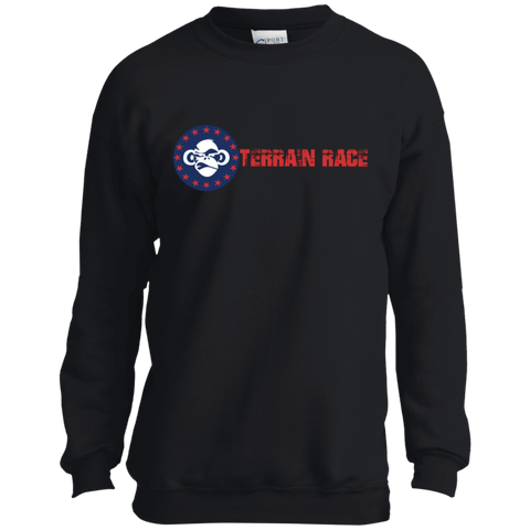 Terrain Race - Port and Co. Youth Crewneck Sweatshirt