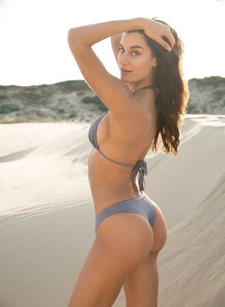 """Tribe Only"" Dream Gray Bikini Bottom"