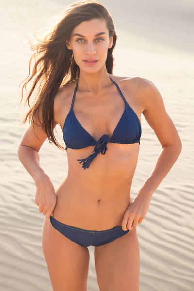 """Tribe Only"" Navy Blue Bikini Top"