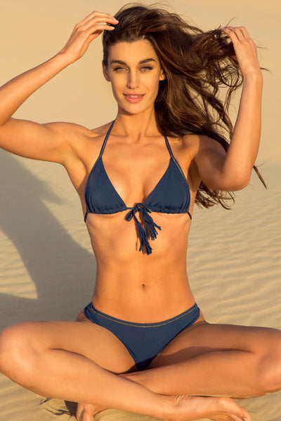 """Tribe Only"" Navy Blue Bikini Set"