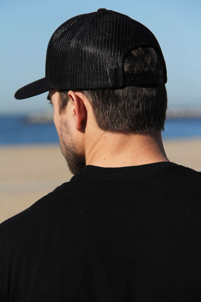 Retro Trucker Cap (Black)