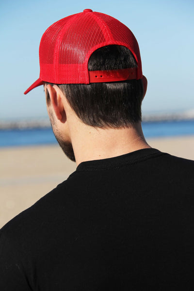 Retro Trucker Cap (Red)