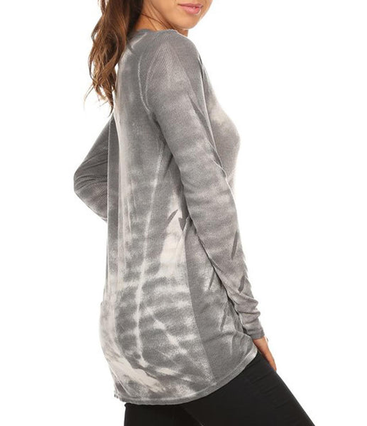 Grey Thermal Knit Tee