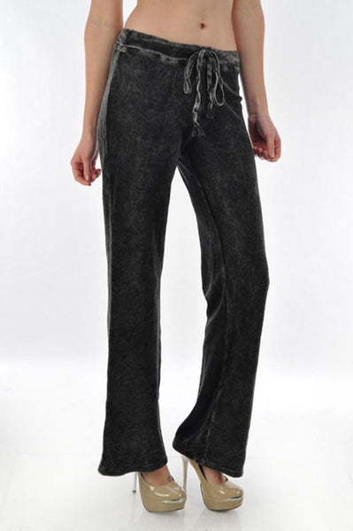 French Black Terry Pant