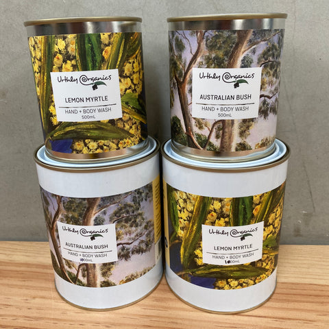 Hand and body wash tins