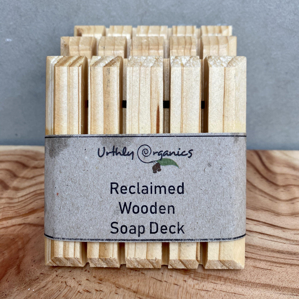 Recycled wooden soap drainer