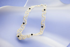 Lace Necklace No. 2 - Onyx or Labradorit