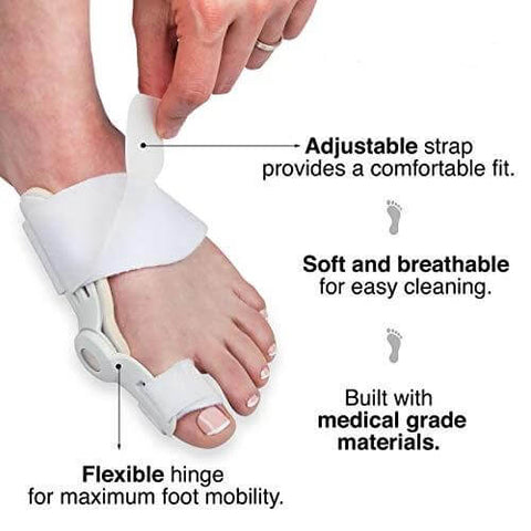 Human - Best Orthopedic Bunion Corrector - Adjustable And Non-Surgical Natural Treatment & Relief
