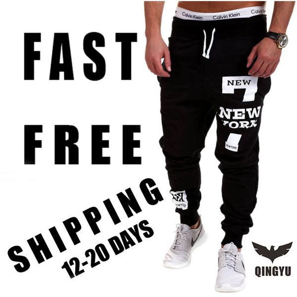 Mens Joggers 2018 Brand Male Trousers Men Pants Casual Solid Alphanumeric printing Pants Men's  Sweatpants Jogger Large SizeXXXL