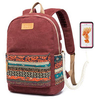 Backpack Waterproof with Massage Cushion Straps, Case for Laptop and USB Charging Portt
