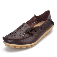 Women's Casual Genuine Leather Shoes Woman
