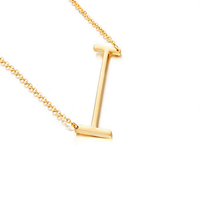 Pendants alphabet Gold Color Stainless Steel Choker Initial Necklace Women Girl Jewelry Collier