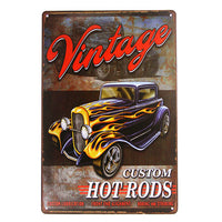 DL-Garage car woman Vintage Tin Sign Poster Man cave retro style ,Street Rod,for the Garage wall decals