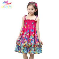 Belababy Summer Bohemian Beach Girls Dress