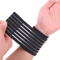 Nylon and spandex material black adjustable breathable elastic wrist support   free shipping