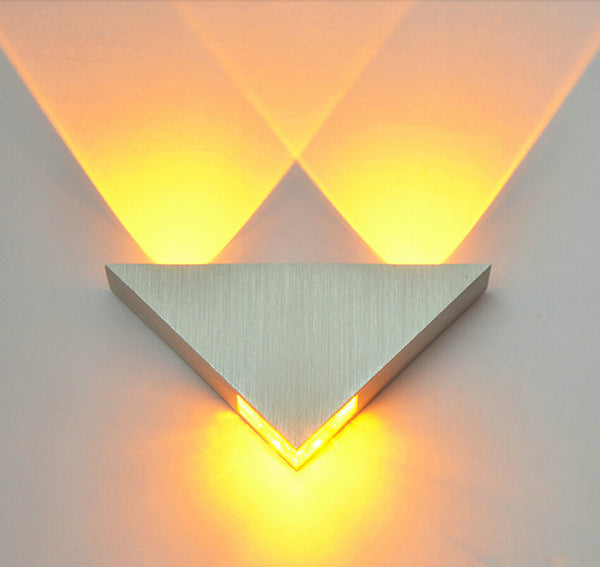 Modern Led Wall Lamp 3W Aluminum Body Triangle Wall