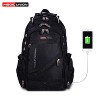 MAGIC UNION Laptop Backpack External USB Charge Computer