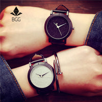 Cute Moon Stars Design Analog Wrist Watch Women