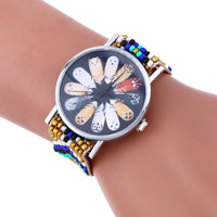 Fashion Weaving watches Bracelet Lady Womans Wrist Watch