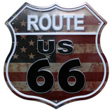 ROUTE 66Restaurant   Beer Bar Coffee Metal Irregular Tin Signs  Advertising board Wall Pub Home Art Decor 30CM U-16