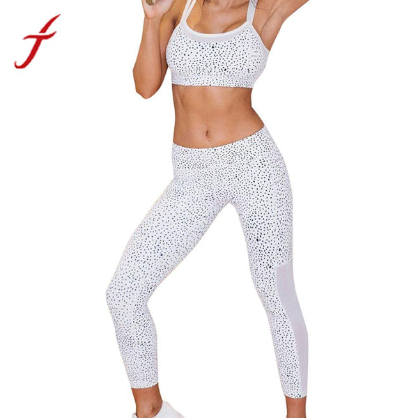 Fashion Womens Workout Trousers Hot Sale Pleated Spot Printed Leggings High Waist Fitness White Pant legins