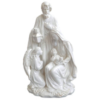 Home Decoration Accessories Holy Family With Angel Statue Jesus Nativity Figurine Decorative Figurines 10.8 inch