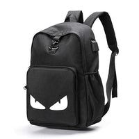 Fashion  Backpack Student Luminous Animation USB Charge Bag Anti-theft