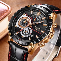 LIGE Watch Men Fashion Quartz Army Military