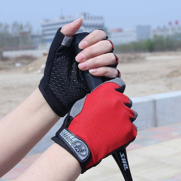 Outdoor Sports Half Finger GEL Gloves Men Women Gym Fitness Weight Lifting Workout Jogging Running Exercise Training Fingerless
