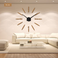 Wall Clock Acrylic Metal Mirror Super Big Personalized Digital Wall Watches Clocks  Free shipping