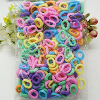 100 Pcs Colorful Rubber Band Gum For Hair Baby girls