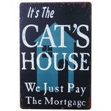 HOUSE Metal Pet Sign Decor Tin Plaque KITTEN Board foranimal brand in pet shop LJ6-4 20x30cm A1