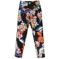 2018 Summer flower printed leggings Women's Workout Leggings Fitness Pants Trouser leggins women workout leggings clothing