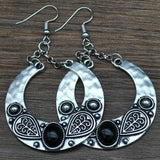 LOVBEAFAS 2018 Fashion Boho Big Drop Earrings For Women Jewelry Brinco Carved Vintage Tibetan Silver Bohemian Long Earrings