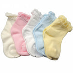 5 pairs/Pack 5 Colors Newborn Baby Socks Spring Summer Short Socks Cotton