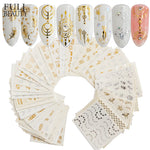 Full Beauty 30pcs Gold Silver Nail Water Sticker