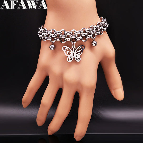 2018 Fashion Butterfly Stainless Steel Bracelet