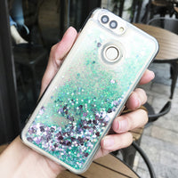 Luxury Cases For Silicone Cover For Huawei Honor 9 Dynamic Liquid Quicksand Coque Soft Gel Cover