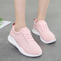 Women Fashion Sneakers Breathable Vulcanize Shoes Tenis feminino Female Casual Added Platform Ladies Shoes White Sneakers ABT966