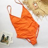 Summer Swimwear Women Sling Backless One Piece