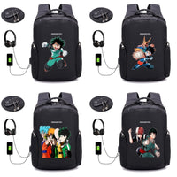 Anime Boku no Hero Academia Anti-theft USB Charging Laptop