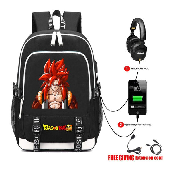 Rucksacks Japan anime Dragon Backpack multifunction USB charging