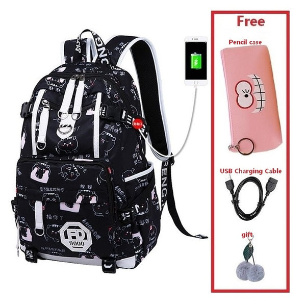 Backpack Waterproof Girl Schoolbag   For Teenager Girls and today plus 30% off at checkout