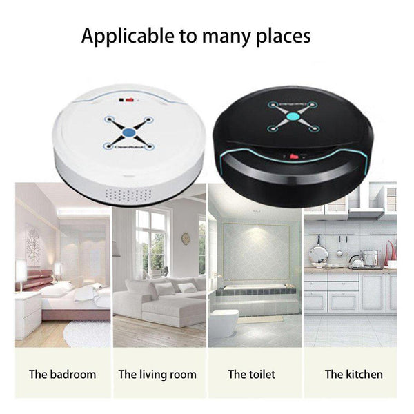 Robotic Auto Floor Robot Sweeper Home Smart Cleaner Mini Cleaner Corners Vacuum Cleaner Dust Mop Microfiber Rechargeable