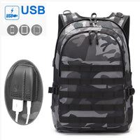 Camouflage Canvas Men Laptop Backpack 15.6 USB Charging Travel Backpack waterproof Large Capacity Back Pack man Multifunctional