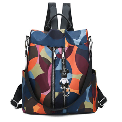 Women's Backpack Nylon Fashion Multicolor Anti-theft